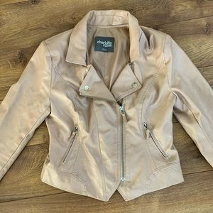 Charolette Russe Faux Leather Jacket Size Medium